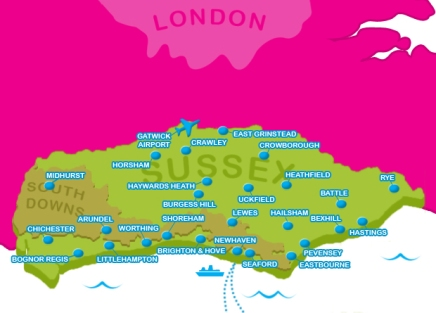 Love Sussex Map 2015 NVG